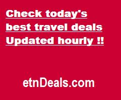 Check today's best travel deals. Updated hourly