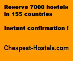 Reserve 7000 hostels in 155 countries. Instant confirmation
